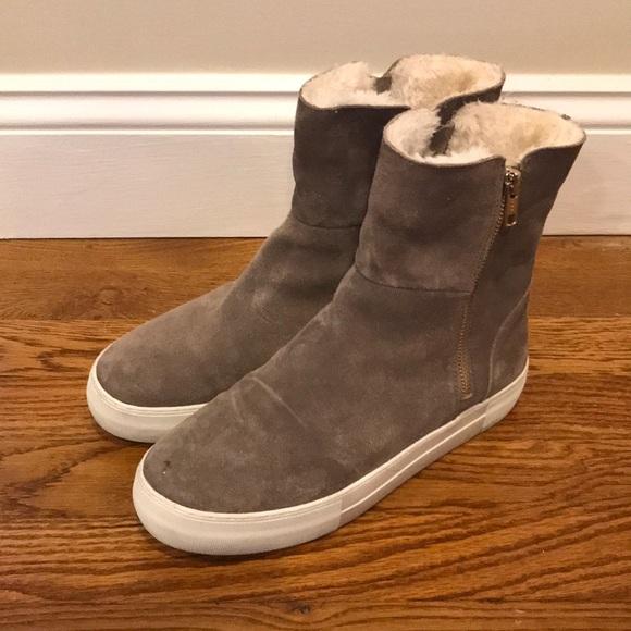 1d45638a4a60 J Slides Shoes - J Slides Allie Faux Fur Suede Platform Boots 8.5